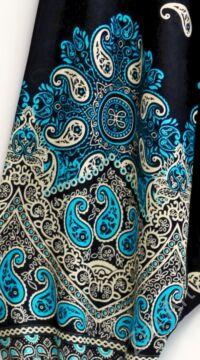 női, divat, nadrág, fekete, bézs, krém, kék, égkék, mandala, mintás, bordűr, trend, kényelmes, bő, szellős, viszkóz, egyedi, extravagáns, egzotikus, bohém, Thaiföld