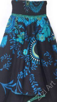 pamut, aladdin, nadrág, fekete, kék, azúr, zöld, színes, virágos, divat, trend, bő, szárú, kényelmes, egyedi, extravagáns, Nepál