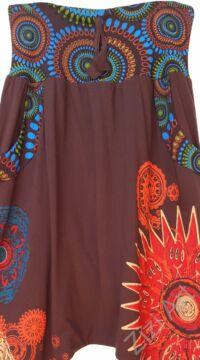 aladdin, nadrág, barna, színes, pamut, bő, lezser, öv, rátét, Nepál, női, divat, trend, egyedi, extravagáns, bohém