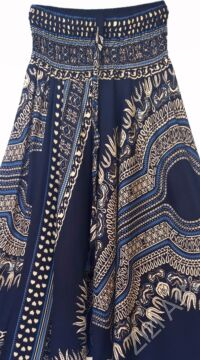 aladdin, nadrág, fekete, bézs, mandala, mintás, kényelmes, bő, szellős, viszkóz, bohém, extravagáns, különleges, Thaiföld, női, divat, trend