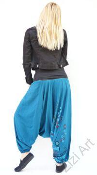 pamut, aladdin, nadrág, fekete, fehér, barna, virágos, divat, trend, bő, szárú, kényelmes, egyedi, extravagáns, Nepál