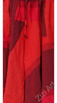 pamut, zsebes, piros, szürke, lezser, bő, aladdin, nadrág, nő, divat, trend, bohém, egyedi