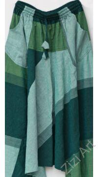 pamut, zsebes, zöld, szürke, lezser, bő, aladdin, nadrág, nő, divat, trend, bohém, egyedi
