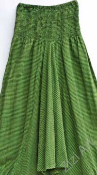 zöld, csíkos, aladdin, nadrág, bő, pamut, női, divat
