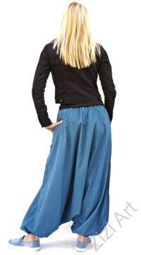 pamut, aladdin, nadrág, kék, színes, virágos, divat, trend, bő, szárú, kényelmes, egyedi, extravagáns, Nepál