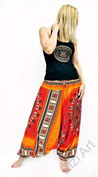 női, divat, nadrág, mandala, piros, narancs, trend, kényelmes, bő, szellős, viszkóz, egyedi, extravagáns, különleges, bohém, Thaiföld