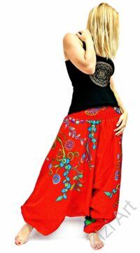 pamut, aladdin, nadrág, piros, kék, színes, virágos, divat, trend, bő, szárú, kényelmes, egyedi, extravagáns, Nepál