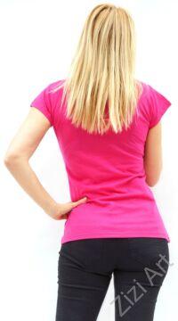 rövid ujjú, pamut, felső, póló, színes, pink, mandala, virág, mintás, vidám, bohém, hippi, laza, női, divat, trend
