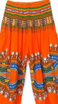 bő, viszkóz, nadrág, élénk, narancs, színes, kör, etno, mintás, színes, női, divat, trend, kényelmes, szellős,  bohém, jázmin, Thaiföld, nagy méret, extra méretezés, plus size