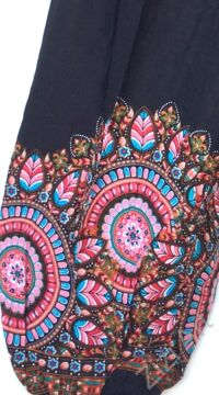 női, divat, kék, fekete, pasztell, színes, mandala,  bordűrminta, mintás, bő, viszkóz, nadrág, színes, trend, kényelmes, szellős,  bohém, jázmin, Thaiföld, nagy méret, extra méretezés, plus size