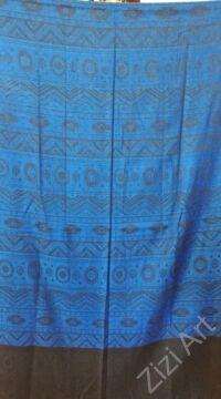 nagy, pashmina, gyapjú, selyem, sál, sálkendő, poncsó, színes, fekete, kék  mintás, nepáli