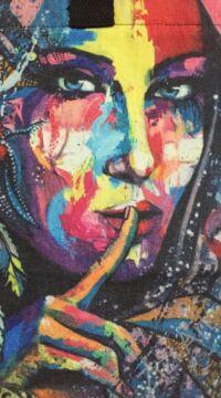 színes, álomcsapda, arc, batikolt, kék, zöld, sárga, piros, textil, válltáska, egyedi, női, kiegészítő, divat, trend