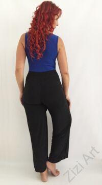 női, divat, kék, fekete, zsebes, bőszárú, overál, nadrág, lezser, trend, kényelmes, szellős, egyedi, extravagáns, különleges, bohém, olasz