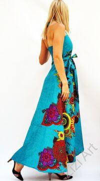 piros, zöld, lila, szürke, hosszú, pamut, ruha, Nepál, átlapolt, lapruha, bő, színes, virág, megkötős, szellős, könnyű, különleges, női, divat, trend, webshop