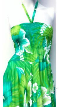 cikk-cakk, midi, ruha, színes, csíkos, zöld, kék, azúr, ujjatlan, vidám, bohém, hippi, laza, női, divat, trend