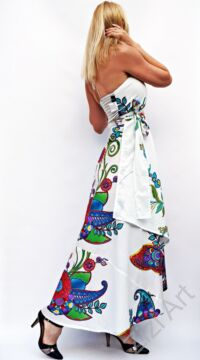 fehér, zöld, szürke, hosszú, pamut, ruha, Nepál, átlapolt, lapruha, bő, színes, körös, megkötős, szellős, könnyű, különleges, női, divat, trend, webshop