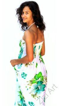 hosszú, fehér, zöld, pink, kék, színes, virágos, romantikus, női, ruha, kényelmes, szellős, divat, bohém, extravagáns, trend