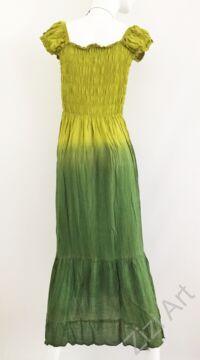 kiwi, zöld, világos, sötét, hosszú, viszkóz, ruha, rövid ujjú, Indonéz, színes, batikolt, gumírozott, szellős, könnyű, kényelmes, különleges, női, divat, trend, webshop
