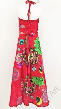 piros, pink, kék, sárga, virág, mandala, narancs, zöld, hosszú, pamut, ruha, Nepál, átlapolt, lapruha, bő, színes, körös, megkötős, szellős, könnyű, különleges, női, divat, trend, webshop