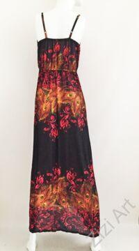 pink, narancs, fekete, hosszú, viszkóz, ruha, Thaiföld, bő, színes, körös, megkötős, szellős, könnyű, különleges, női, divat, trend, webshop