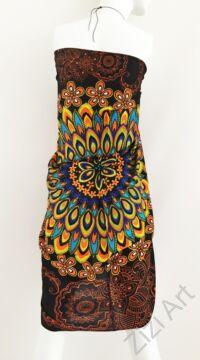 sarong, fekete. barna, sárga, kék, színes, kendő, sál, strandkendő, pareo, mandala