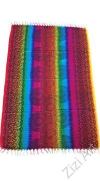 sarong, pink, lila, rózsaszín, kék, zöld, színes, kendő, sál, strandkendő, pareo, csíkos, mintás, batikolt