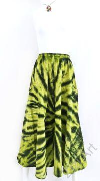 batikolt, hosszú, pamut, szoknya, zsebes, sárga, fekete, bohém, női, divat, nyári, trend, Nepál