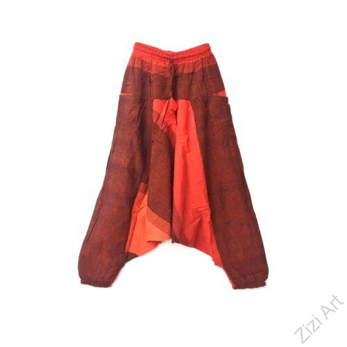 pamut, zsebes, narancssárga, szürke, lezser, bő, aladdin, nadrág, nő, divat, trend, bohém, egyedi