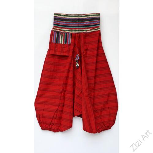 zsebes, bő, pamut, csíkos, aladdin, nadrág, piros, női, bohém, egyedi, extravagáns, divat, trend, ősz, nyár, tél