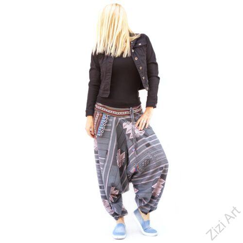 bő szárú, aladdin, nadrág, szürke, bordó, kék, pamut vászon, indiai, mintás, zsebes, megkötős, női, divat, trend