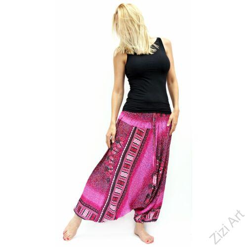 női, divat, nadrág, mandala, pink, bordó, piros, trend, kényelmes, bő, szellős, viszkóz, egyedi, extravagáns, különleges, bohém, Thaiföld