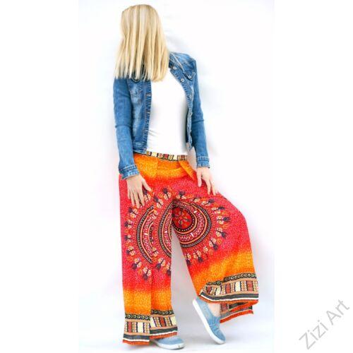 bőszárú, szoknya rátétes, élénk, színes, narancs, viszkóz, nadrág, női divat, trend, bohém, elegáns, egyedi, különleges, szellős, kényelmes, nyár, napsütés, nyaralás