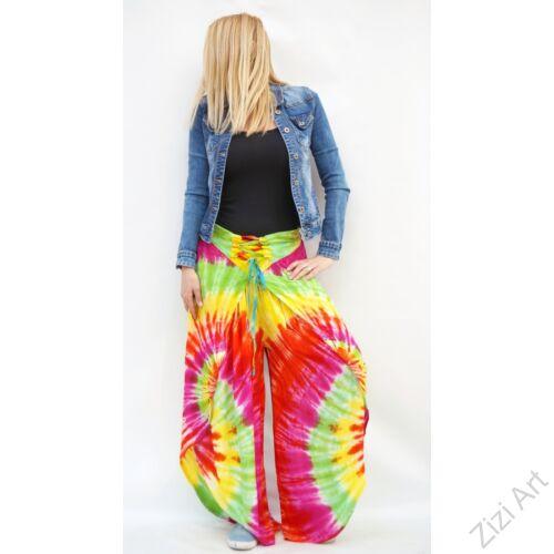 bőszárú, szoknya rátétes, élénk, színes, pink, zöld, sárga, szivárvány, viszkóz, nadrág, női divat, trend, bohém, elegáns, egyedi, különleges, szellős, kényelmes
