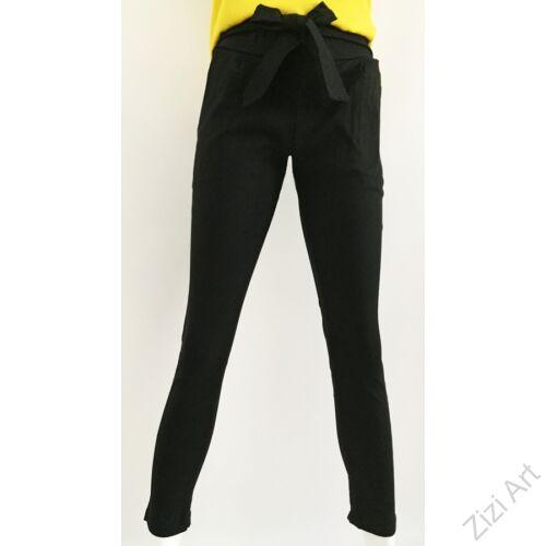 női, divat, fekete, zsebes, ceruza, nadrág, egyszínű, trend, kényelmes, szellős, egyedi, extravagáns, különleges, bohém, olasz