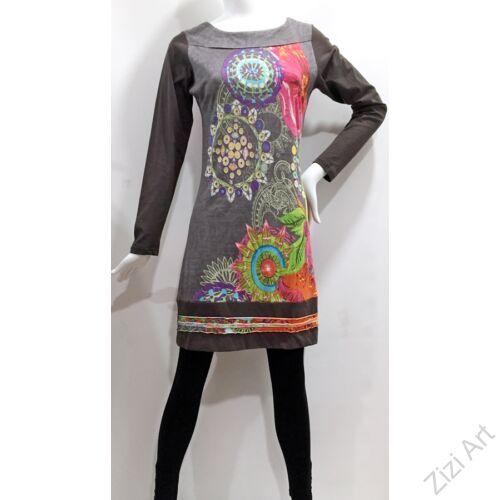 szürke, színes, piros, pink, kék, mandala, mintás, hosszú ujjú, rövid, designer, ruha, India, egyedi, vidám, elegáns, különleges, női, divat, bohém, trend