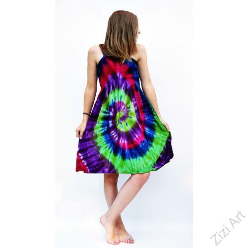 pink, királykék, kiwi, batikolt, szivárványos, élénk, vidám. színes, gyerek, ruha, szellős, kényelmes, viszkóz, India, trend, divat