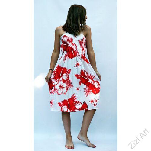 fehér, piros, virágos, élénk, vidám. színes, gyerek, ruha, szoknya, szellős, kényelmes, viszkóz, Thaiföld, trend, divat