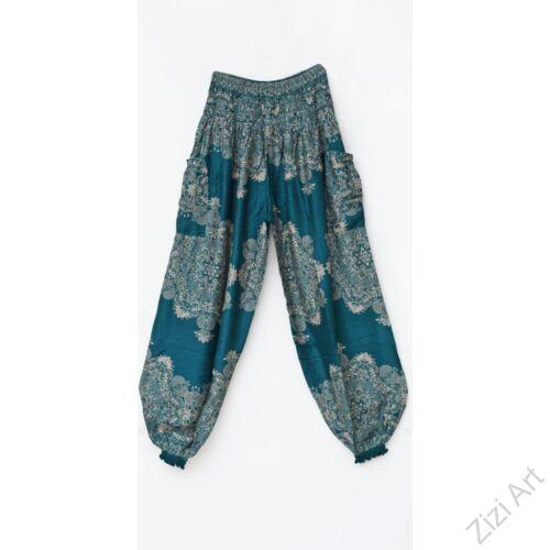 bő, nadrág, jázmin, mandala, mintás, viszkóz, bordó, türkiz, kék, bézs, trend, kényelmes, szellős, egyedi, extravagáns, bohém, Thaiföld, nagy méret, extra méretezés, plus size