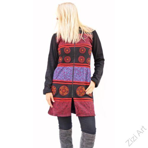 fekete, bordó, kék, hosszú, kardigán, pulóver, színes, mandala, Nepál, egzotikus, meleg, pamut, bélelt, manó, kapucnis, cipzár, tavasz, nyár, ősz, tél, egyedi, vidám