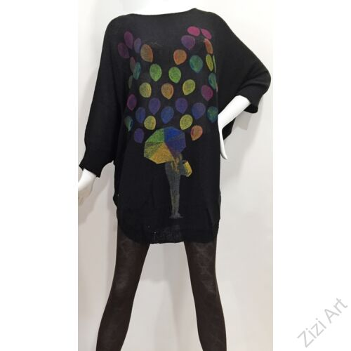 színes, fekete, kötött, pulóver, hosszú, esernyő, mintás, pulcsi, háromnegyedes, ujjú, kerek, nyakú