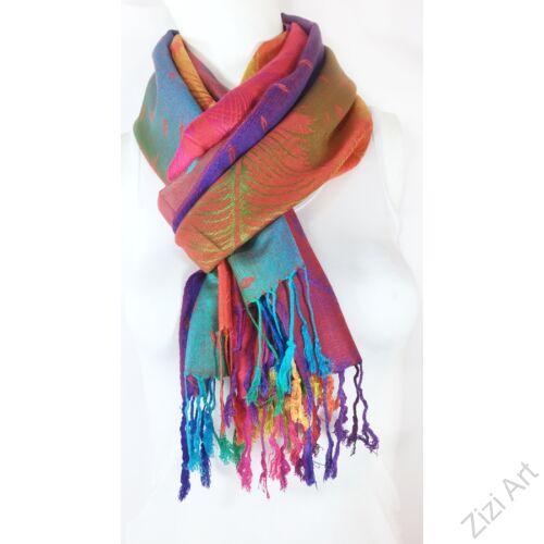 pávatoll, mintás, nagy, pashmina, gyapjú, selyem, sál, sálkendő, poncsó, színes, pink, lila, arany, kék, zöld, narancs, zöld, mintás, nepáli