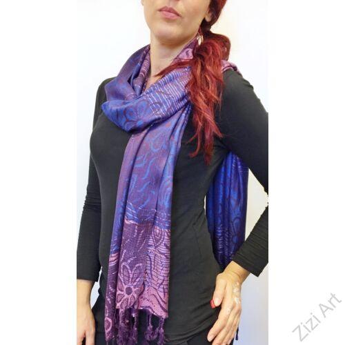 nagy, pashmina, gyapjú, selyem, sál, sálkendő, poncsó, színes, fekete, mintás, lila, kék, nepáli