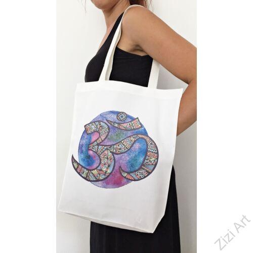 pamut, fehér, színes, textil, táska, om jel, női, kiegészítő