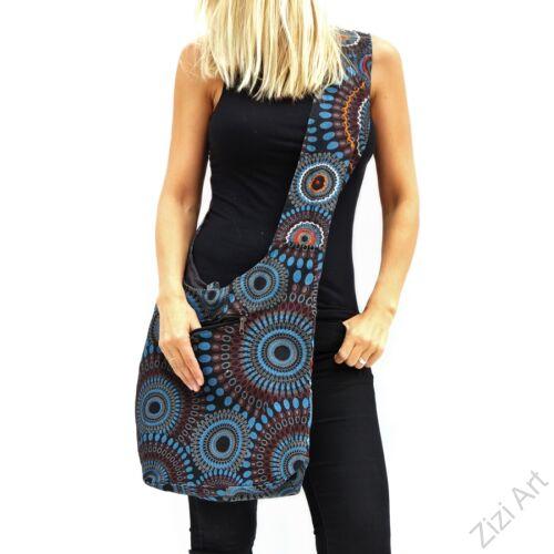pamut, kék, szürke, narancs, mályva, színes, textil, mandalás, válltáska, egyedi, női, kiegészítő, divat, trend
