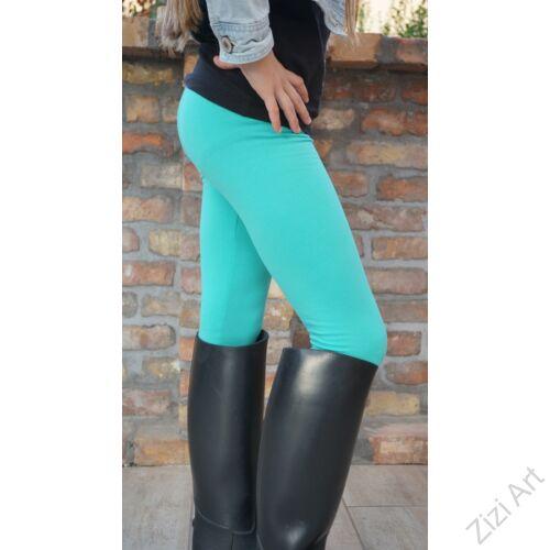 türkiz, zöld, világos, 98, 104, gyerek, leggings, cicanaci, cicanadrág, nadrág, téli, meleg, bolyhos, pamut, hosszú szár, elasztikus, rugalmas
