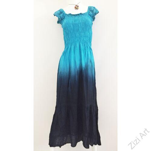 kék, világos, sötét, hosszú, viszkóz, ruha, rövid ujjú, Indonéz, színes, batikolt, gumírozott, szellős, könnyű, kényelmes, különleges, női, divat, trend, webshop