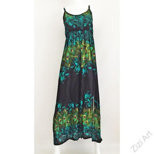 türkiz, kék, zöld, fekete, hosszú, viszkóz, ruha, Thaiföld, bő, színes, körös, megkötős, szellős, könnyű, különleges, női, divat, trend, webshop