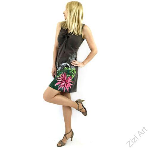bab5d17605 szürke, színes, pink, rózsaszín, virágos, kaméleon, ujjatlan, pamut,