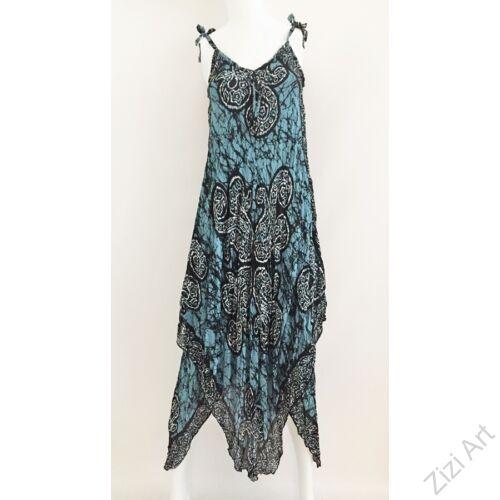 kék, fekete, fehér, hosszú, pamut, géz, ruha, török, bő, spagettipántos, szellős, könnyű, különleges, női, divat, trend, webshop