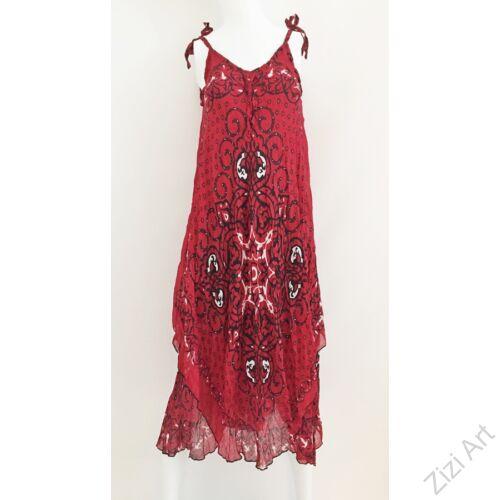 piros, fekete, fehér, hosszú, pamut, géz, ruha, török, bő, spagettipántos, szellős, könnyű, különleges, női, divat, trend, webshop